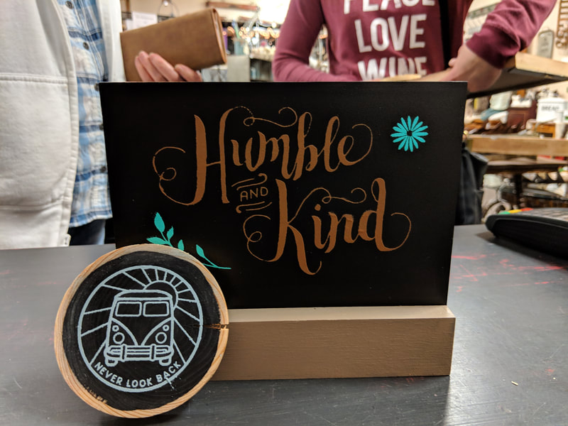customer work from sign-making workshop
